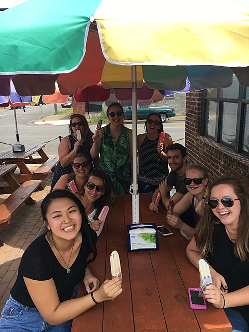 Paisley & Jade is located just a block away from King of Pops in Scott's Addition and the P&J team took a field trip on a hot summer day after a weekend full of events!