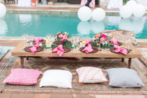 Paisley & Jade brought some of their vintage and speciality rental inventory and came together with Camille Catherine Photography for this poolside party