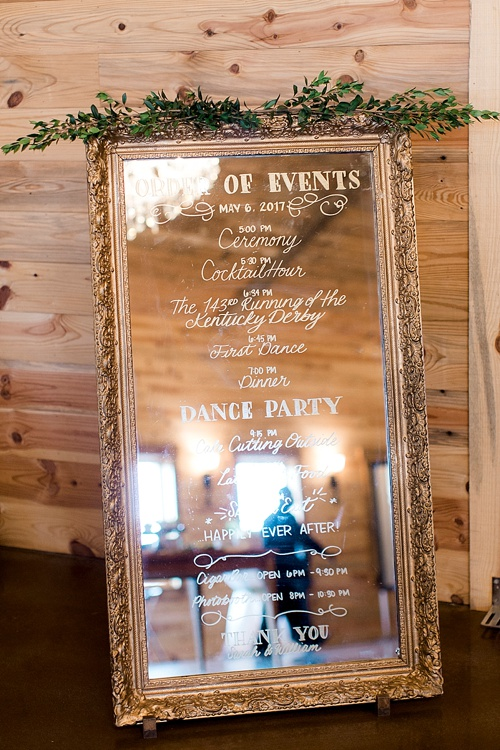 Beautiful custom hand-lettering and calligraphy for events and weddings with rental items and services provided by Paisley & Jade