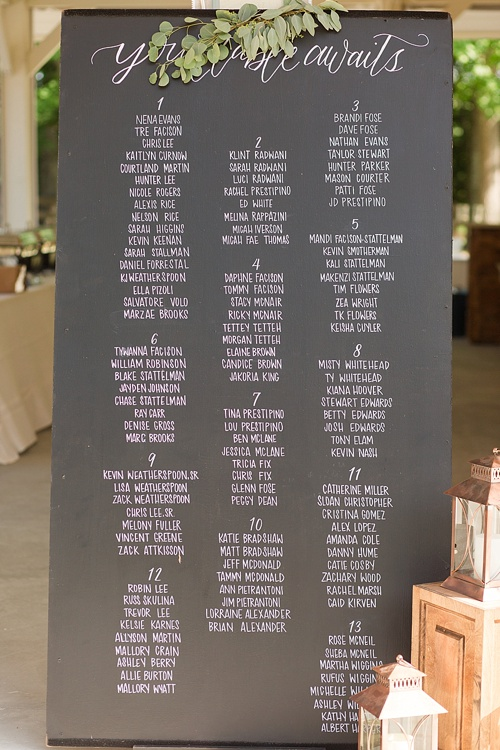 Happy Hand Lettering Custom Guest Seating Charts