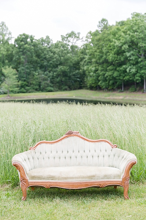 Americana and rustic outdoor wedding with specialty and vintage rentals by Paisley & Jade