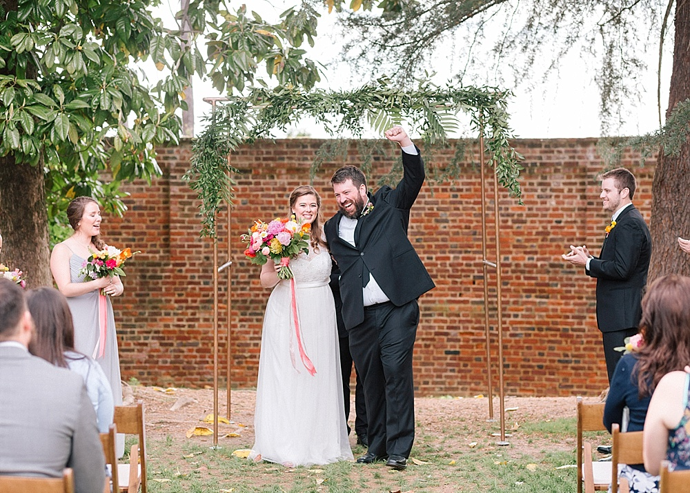 Colorful and cheerful outdoor wedding with specialty and vintage rentals by Paisley & Jade