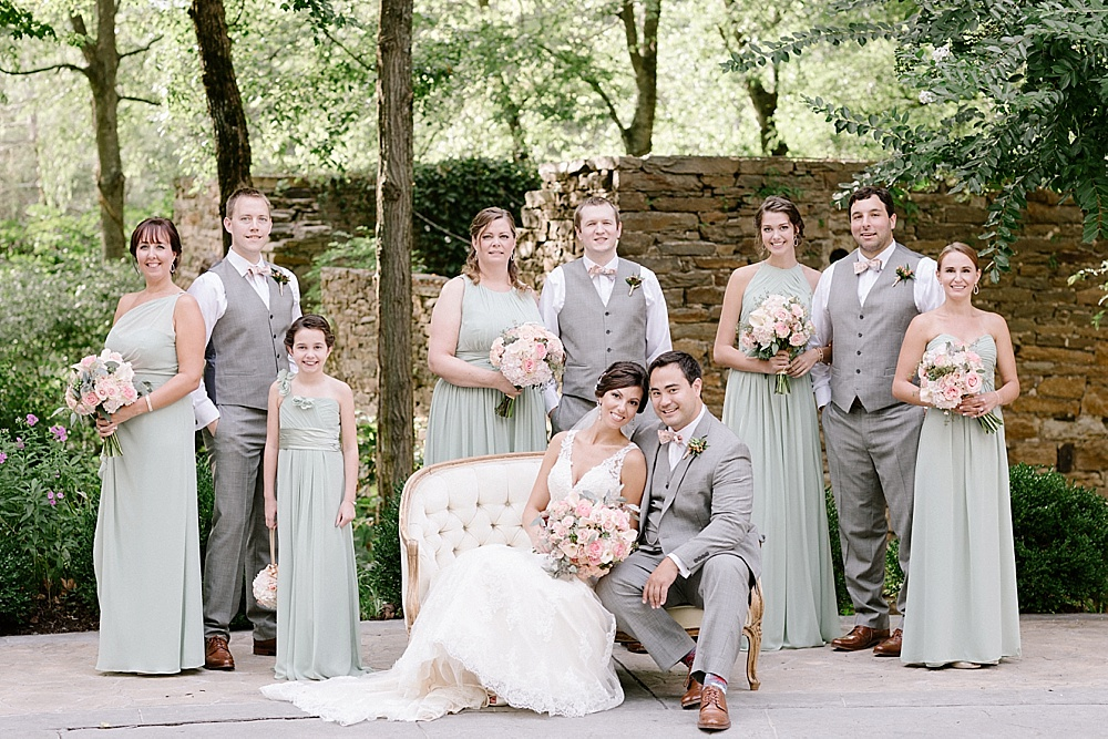 Elegant pastel colored wedding at The Mill At Fine Creek with images by David Abel Photography and specialty rentals by Paisley & Jade