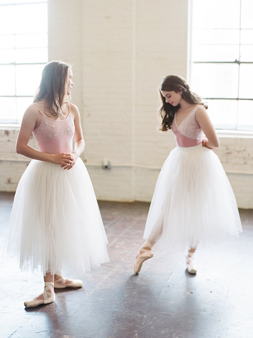 Gorgeous ballerina photo shoot by Abby Grace Photography with space and prop rentals by Paisley & Jade
