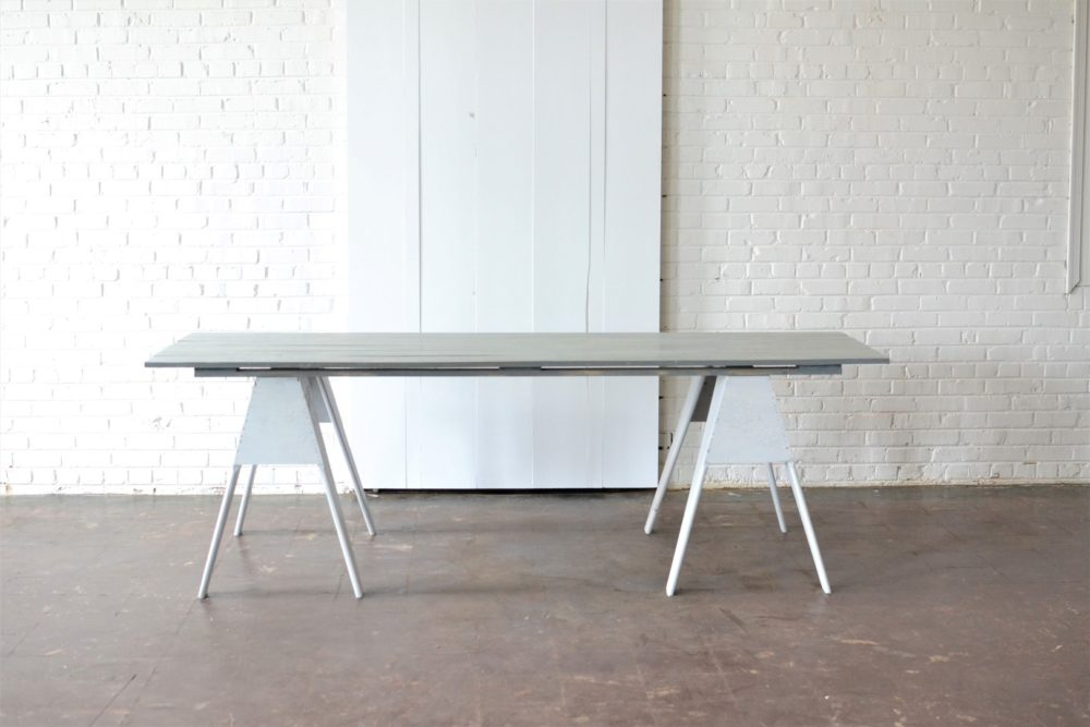In This Weeku0027s Inspiration Station, We Wanted To Show Off Our Gray Sawhorse Farm  Table! We Took Whatu0027s Considered To Be A U201crusticu201d Piece And Spun It Into A  ...