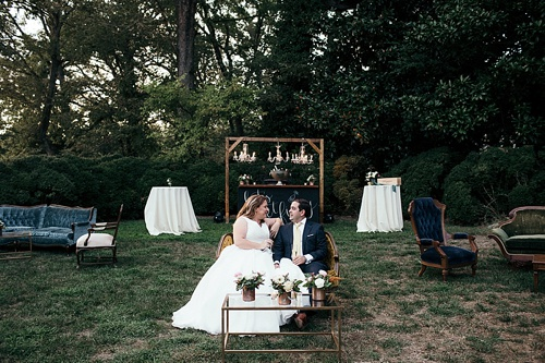 Rich and Romantic Wedding at The Wilton House Museum in Richmond captured by Betty Clicker Photography with Vintage and Eclectic Rentals by Paisley & Jade