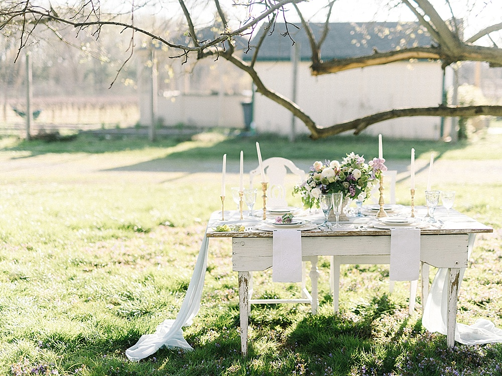 Italian inspired rustic and romantic winery wedding styled shoot with vintage rentals by Paisley & Jade