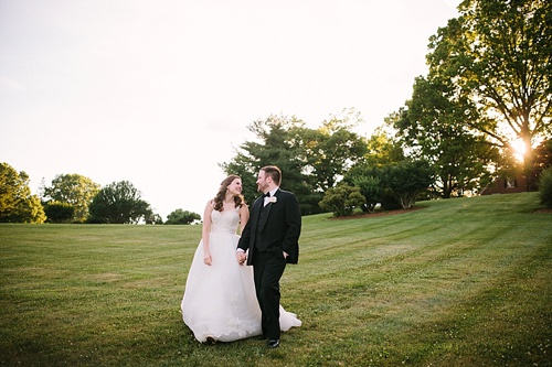 Lush and Lovely wedding reception at a private residence in Virginia with vintage and specialty rentals by Paisley & Jade