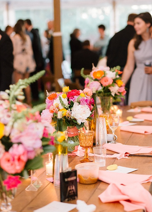 Colorful and charming outdoor wedding with specialty and vintage rentals by Paisley & Jade