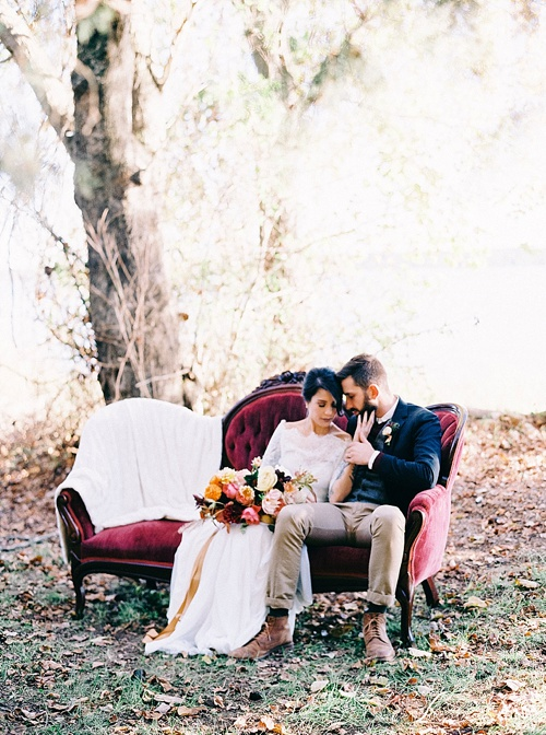 Romantic Fall Wooden Styled Shoot with vintage and specialty rentals by Paisley & Jade
