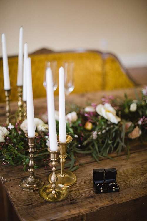 Winter and Holiday Wedding Inspiration with specialty rentals provided by Paisley & Jade