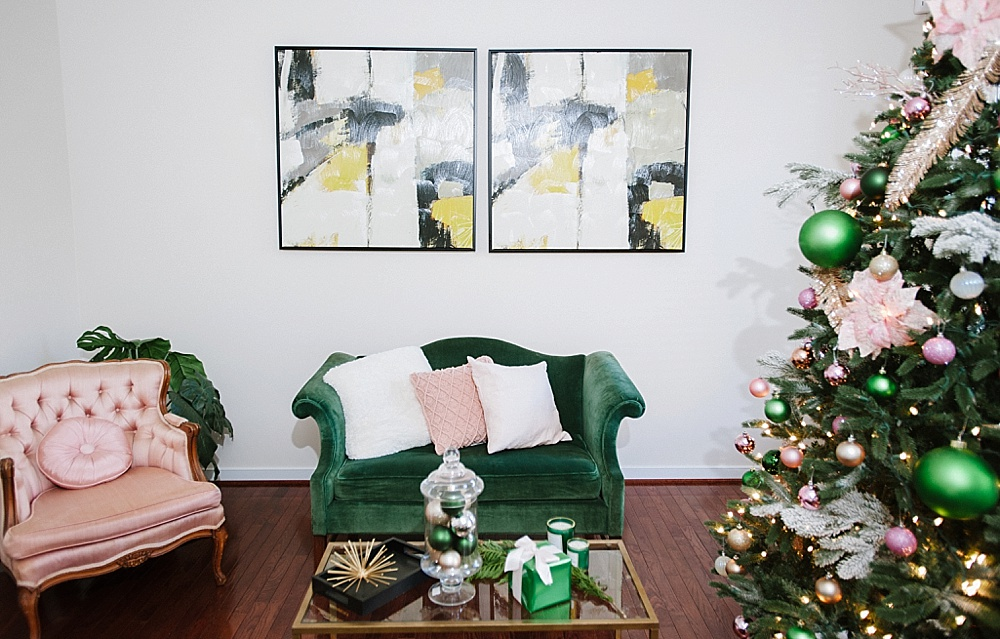 Gorgeous Girls Night Holiday Party featuring specialty and vintage rentals by Paisley and Jade