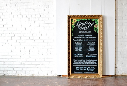 Gorgeous custom hand-lettered menus and seating charts for events and weddings by Paisley Jade