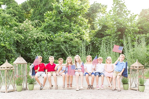 Fun and festive 4th of July Kids Photoshoot with specialty and vintage prop rentals by Paisley & Jade