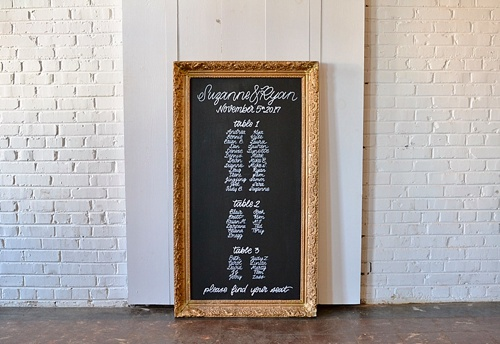 Creative custom hand-lettering for weddings and events by Paisley an Jade