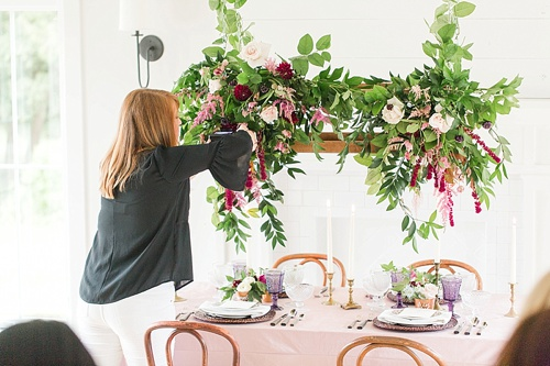 Gorgeous summer wedding styled shoot at the Katelyn James Workshop with specialty and vintage rentals by Paisley & Jade