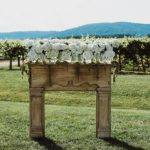 Charming outdoor vineyard wedding in Charlottesville with specialty and vintage rentals provided by Paisley & Jade