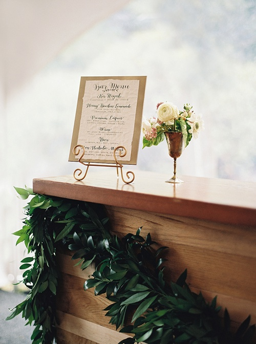 Elegant outdoor wedding in Virginia with specialty and vintage rentals provided by Paisley & Jade