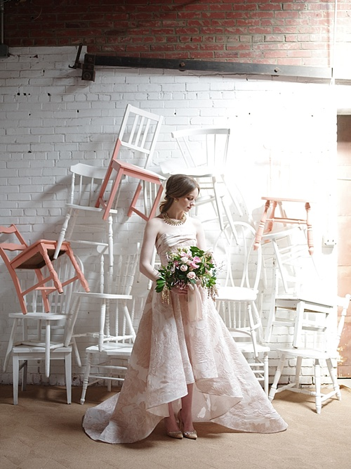 Gorgeous Spring editorial bridal shoot for Washingtonian Bride & Groom Magazine with space and vintage and specialty rentals provided by Paisley & Jade