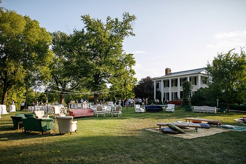 Fun and casual rehearsal dinner at The Clifton Inn with specialty and vintage rentals by Paisley & Jade