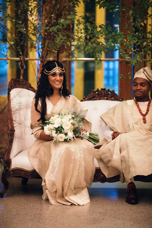 Marvelous multi-cultural wedding at The Science Museum of Virginia with specialty and vintage rentals by Paisley & Jade