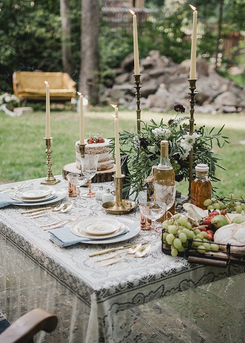 Sweet surprise elopement with specialty and vintage rental pieces provided by Paisley and Jade