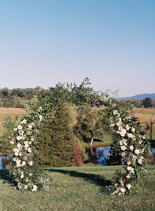 Gorgeous outdoor wedding in the Blue Ridge Mountains with specialty vintage rentals by Paisley and Jade