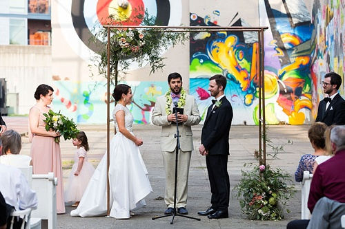 Fun urban chic wedding in Richmond with specialty and vintage rentals by Paisley and Jade