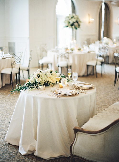 Romantic Keswick Hall wedding reception with chic specialty and vintage rentals by Paisley and Jade