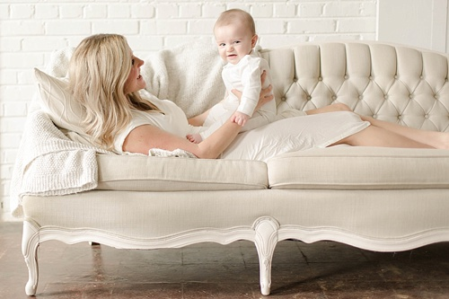 Sweet mommy and me photo shoot at Highpoint and Moore with space and specialty rentals by Paisley and Jade
