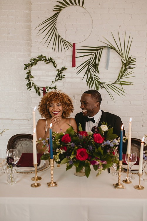 Chic and modern wedding inspiration styled shoot in Richmond. Virginia with specialty and vintage rentals by Paisley and Jade
