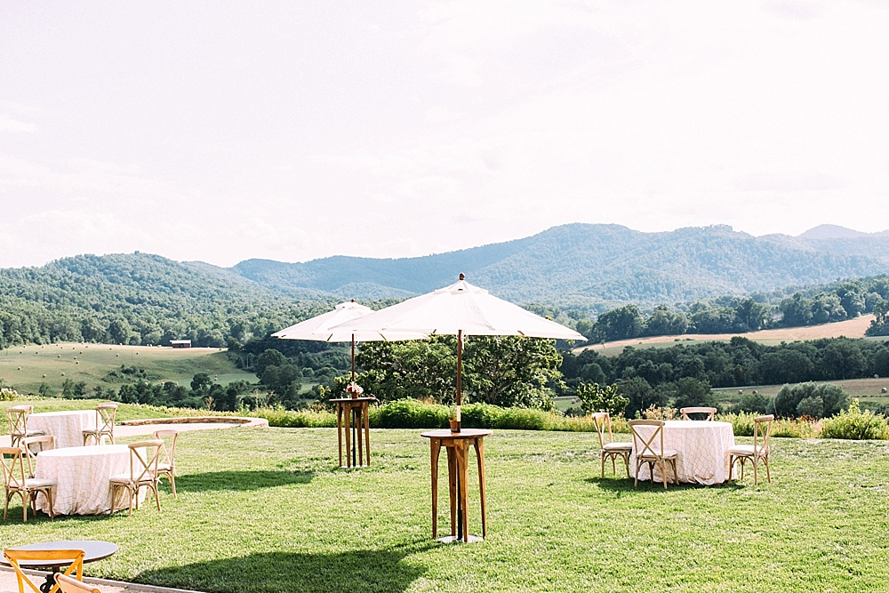 Gorgeous farmer's market inspired wedding at Pippin Hill Farm and Vineyard in Charlottesville, Virginia with specialty and vintage rentals by Paisley and Jade