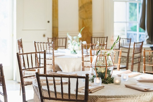 Sweet museum wedding in Richmond , Virginia with specialty and vintage rentals by Paisley and Jade