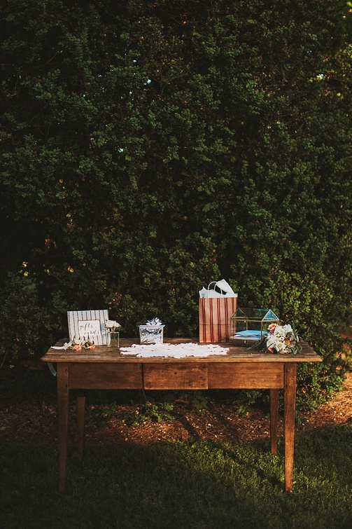 Moody and romantic reception at Tuckahoe Plantation with specialty and vintage rentals by Paisley and Jade