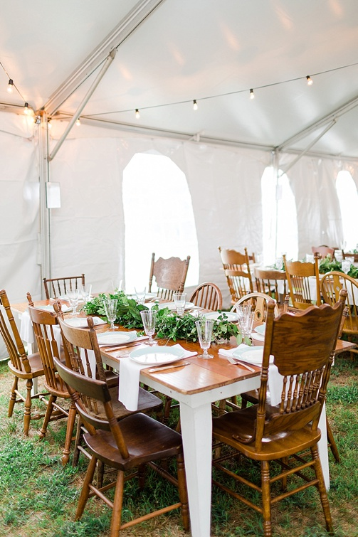 Charming and casual country wedding in Virginia with specialty and vintage rentals by Paisley & Jade