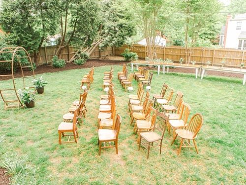 Sweet and charming backyard wedding with specialty and vintage rentals by Paisley & Jade