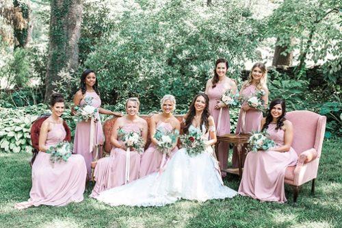 Elegant Virginia estate wedding with vintage and specialty rentals by Paisley & Jade