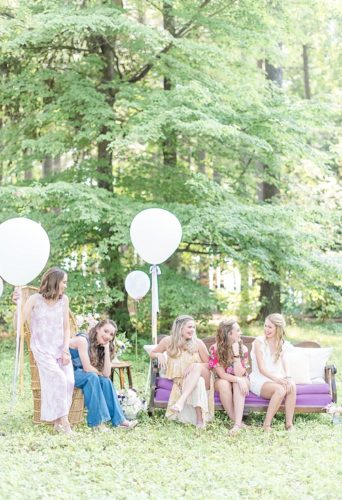 Bright and beautiful senior portrait styled shoot with specialty furniture by Paisley & Jade