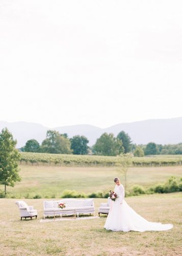 Romantic and chic vineyard wedding inspiration at Veritas Winery with specialty and vintage rentals by Paisley & Jade