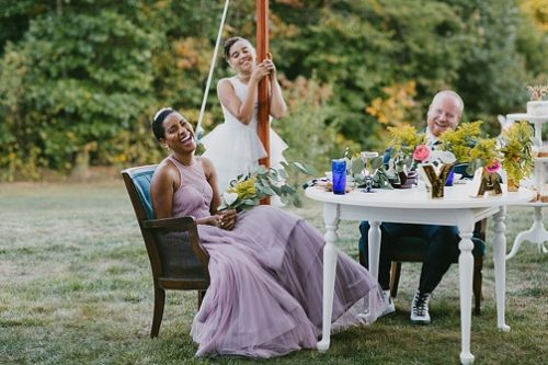 Simple and modern outdoor wedding with specialty and vintage rentals by Paisley & Jade