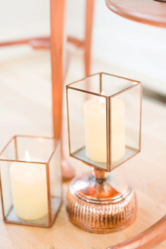 Gorgeous styled shoot with copper and peach hues by Katelyn James with vintage and specialty rentals by Paisley & Jade