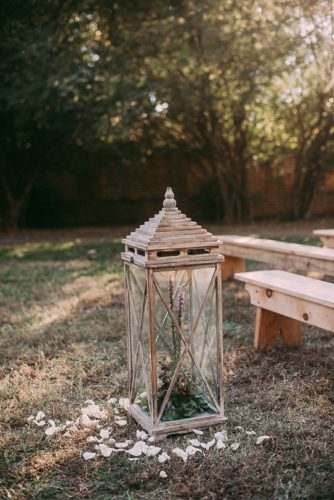 Stunning outdoor wedding ceremony in Richmond, Virginia with specialty and vintage rentals by Paisley and Jade