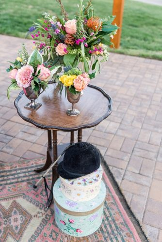 Romantic pink Kentucky Derby inspired styled shoot featuring vintage and specialty rentals by Paisley & Jade