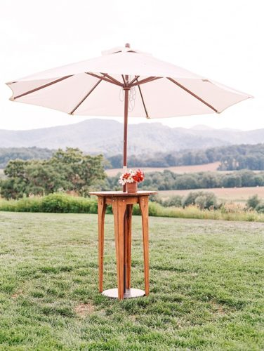 Paisley & Jade's Canvas Umbrella is a wonderful rental option for your outdoor event space no matter what style