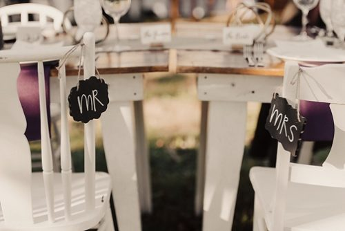Romantic outdoor reception at Chiswell with specialty and vintage rentals by Paisley & Jade