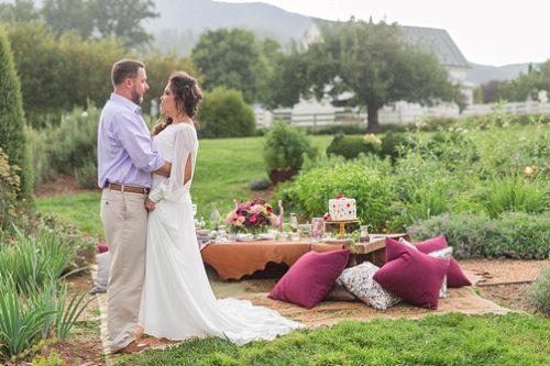 Enchanting elopement inspiration at Pharsalia in Nelson County, Virginia with specialty and vintage rentals by Paisley and Jade