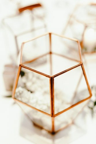 Modern and copper musuem wedding in Richmond with specialty and vintage rentals by Paisley & Jade