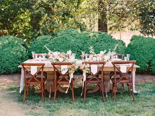 Pretty pastel reception inspiration at White Plains Farm with specialty and vintage rentals by Paisley and Jade