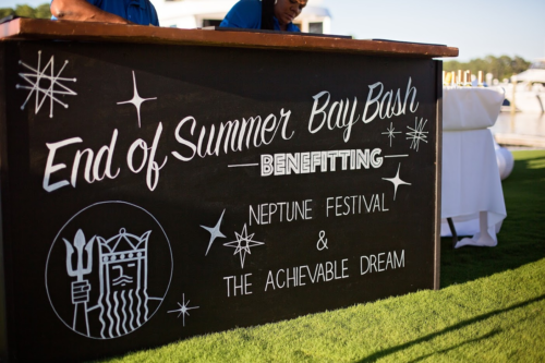 Paisley and Jade's Homestead Chalkboard bar with custom hand lettering shines in several styled and types of events and weddings