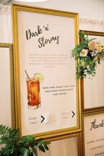 Creative Signage & More at this Elegant Upper Shirley Vineyard Affair!